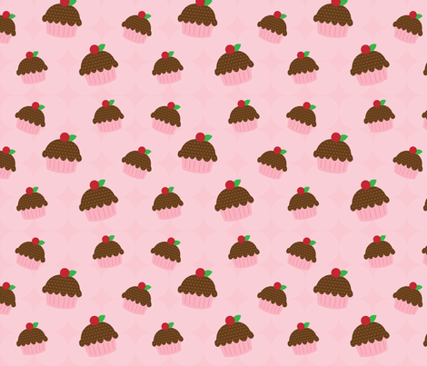 Sweet Cupcakes fabric by prairiegirlcouture on Spoonflower - custom fabric