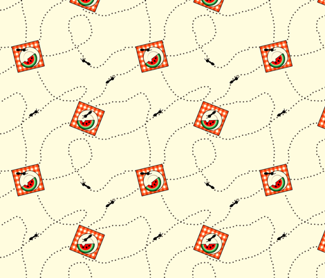 Ants at My Picnic fabric by pantsmonkey on Spoonflower - custom fabric