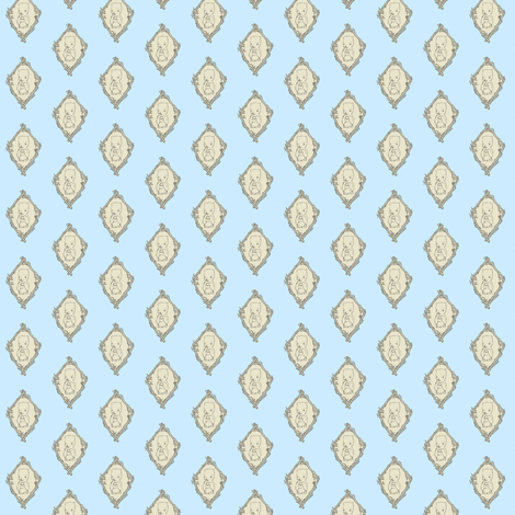 Little Hungry Bear Toile - Pale Blue fabric by waxypin on Spoonflower - custom fabric