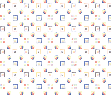 beach ball 4 square fabric by ali_c on Spoonflower - custom fabric