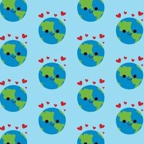 happy earth blue