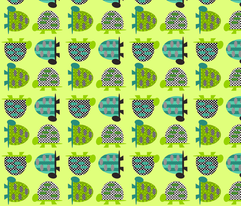 Tall Turtles - deep fabric by petunias on Spoonflower - custom fabric