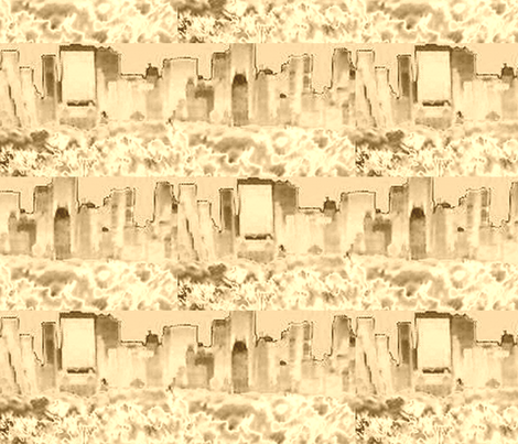 NYC Sepia 30 fabric by minka on Spoonflower - custom fabric