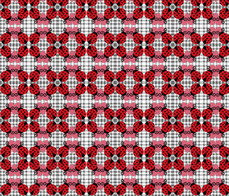 ladybug picnic fabric by razberries on Spoonflower - custom fabric