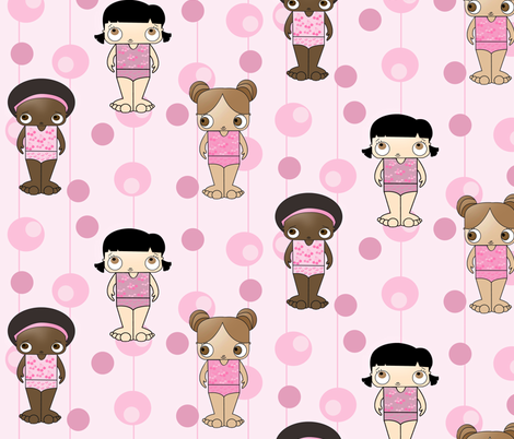 Swimsuit Toddlers fabric by gurgleturtle on Spoonflower - custom fabric