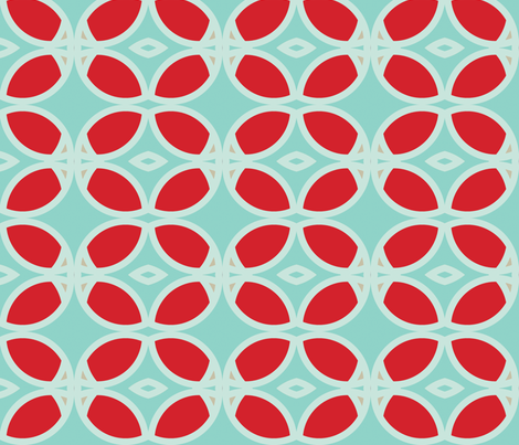 circle_turquoise fabric by holli_zollinger on Spoonflower - custom fabric