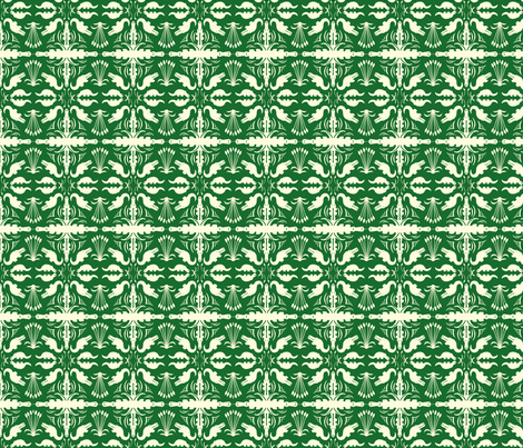 Crocodile Damask fabric by laurawilson on Spoonflower - custom fabric