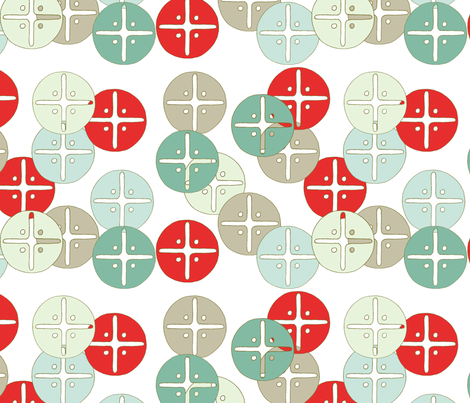 buttons_red fabric by holli_zollinger on Spoonflower - custom fabric