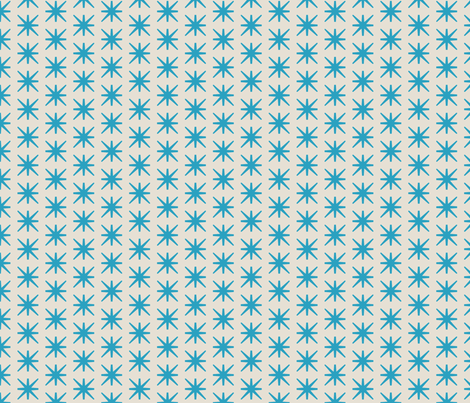 stockholm ana stars cerulean fabric by holli_zollinger on Spoonflower - custom fabric