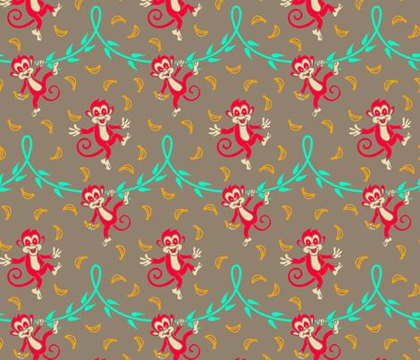 Happy_monkeys3 fabric by hissun on Spoonflower - custom fabric