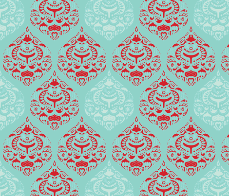 aquamarine_teardrops fabric by holli_zollinger on Spoonflower - custom fabric