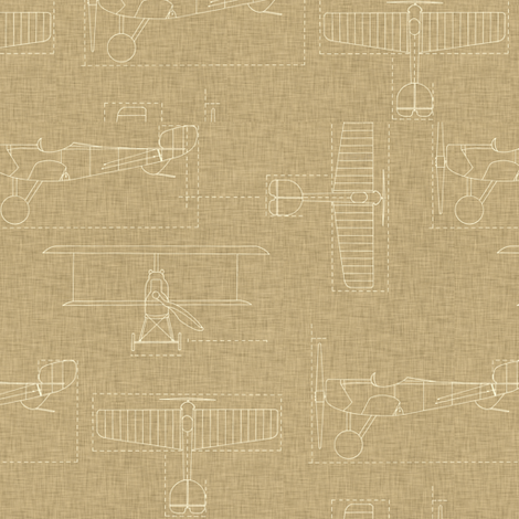 flight school linen bright fabric by holli_zollinger on Spoonflower - custom fabric