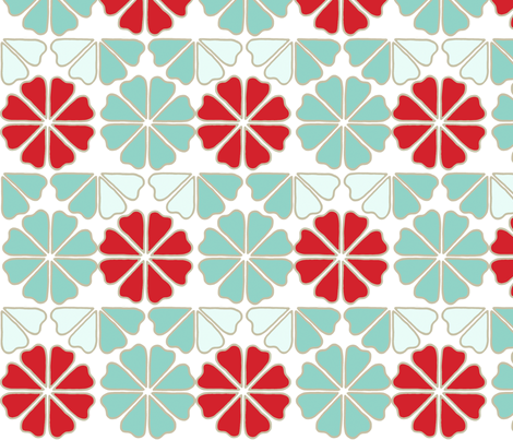 seafoam_decoflowers fabric by holli_zollinger on Spoonflower - custom fabric