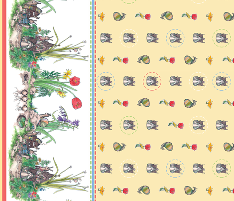 Snails In the Garden fabric by leslipepper on Spoonflower - custom fabric