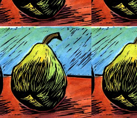 Pear fabric by sarah_nussbaumer on Spoonflower - custom fabric