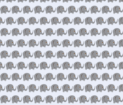 Ellie Fun Elephant fabric by wastenotsaks on Spoonflower - custom fabric
