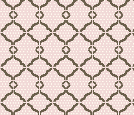 polkadot lattice fabric by thehandmadehome on Spoonflower - custom fabric