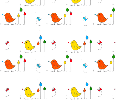 Sweet Peeps fabric by ellielinn on Spoonflower - custom fabric
