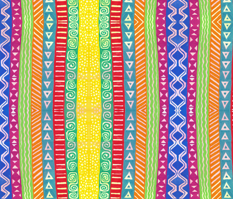 Dreaming of Africa fabric by not-enough-time on Spoonflower - custom fabric