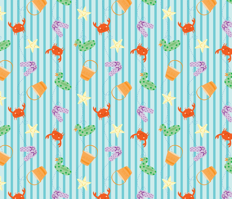 Trip to the Beach fabric by goodnessandfun on Spoonflower - custom fabric