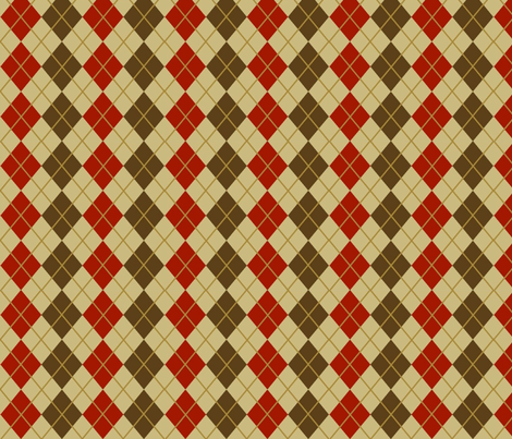autumn argyle fabric by cutiepoops on Spoonflower - custom fabric