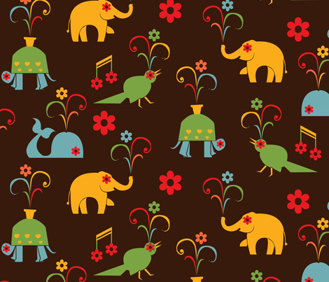 Happy fabric by royalforest on Spoonflower - custom fabric