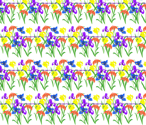february fabric by rose'n'thorn on Spoonflower - custom fabric