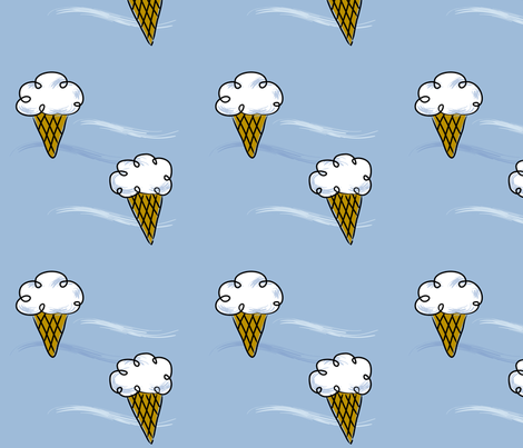 Ice Cream Clouds fabric by jenimp on Spoonflower - custom fabric