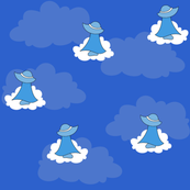Fluffy Clouds, Blue Sky