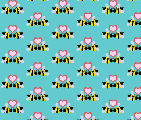Bee Mine fabric by razberries on Spoonflower - custom fabric