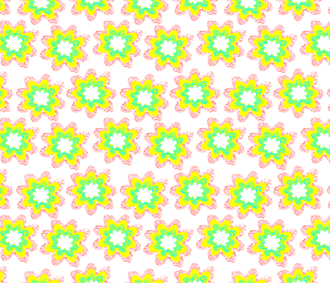 vibrant flowers fabric by foof on Spoonflower - custom fabric