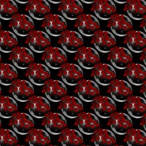 Black And Red Bubbles