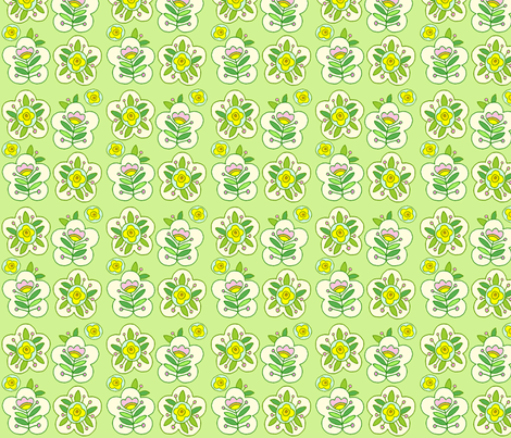 Fun Flowers fabric by jone on Spoonflower - custom fabric