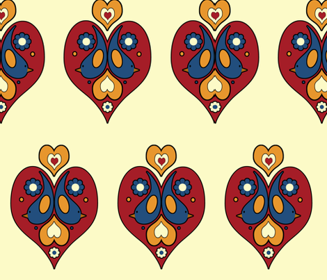 scandibirds fabric by funkynature on Spoonflower - custom fabric