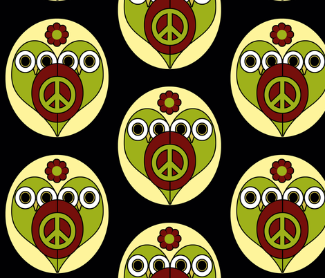 Peace Owls fabric by funkynature on Spoonflower - custom fabric