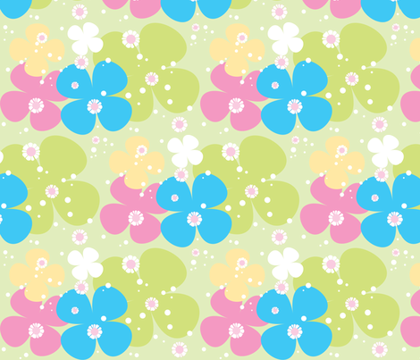 Wild Flowers fabric by malien00 on Spoonflower - custom fabric