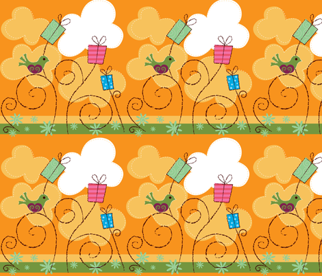 Orange Day fabric by malien00 on Spoonflower - custom fabric