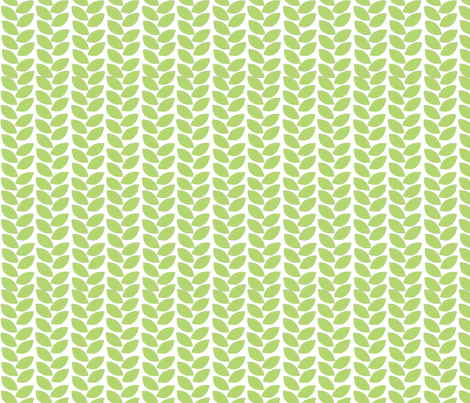garland leaves fabric by thehandmadehome on Spoonflower - custom fabric