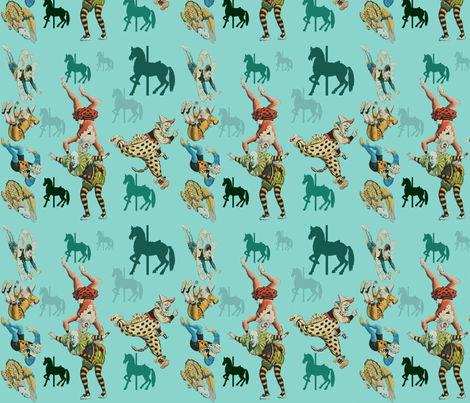 clowning around fabric by glanoramay on Spoonflower - custom fabric