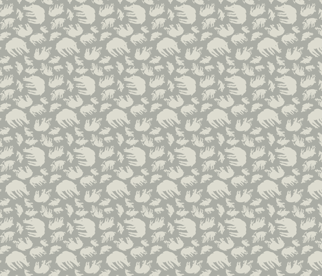 Scythian Boars in silver fabric by tinet on Spoonflower - custom fabric