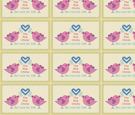 Pink_Chicks fabric by jasmo on Spoonflower - custom fabric