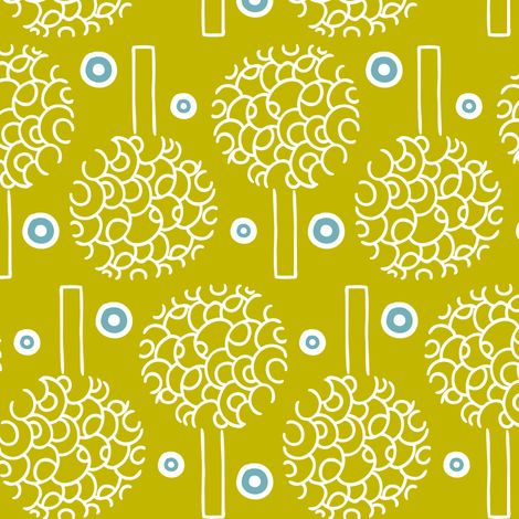 Annika - Trees fabric by heatherdutton on Spoonflower - custom fabric
