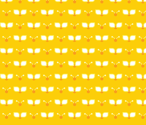 Sunshine Bugs! fabric by momopeche on Spoonflower - custom fabric