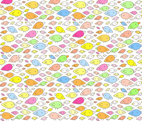 Rainbow Birds fabric by pocketcarnival on Spoonflower - custom fabric
