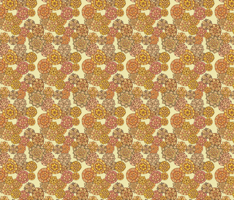 Florabundant Flower Fabric fabric by dottikins on Spoonflower - custom fabric