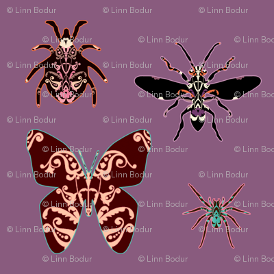 patterned_bugs_purple