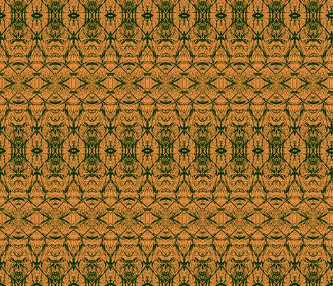 orange_green-leaf_primrose_series 350 fabric by wren_leyland on Spoonflower - custom fabric