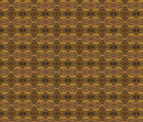 grasshopper gold and brown fabric by wren_leyland on Spoonflower - custom fabric