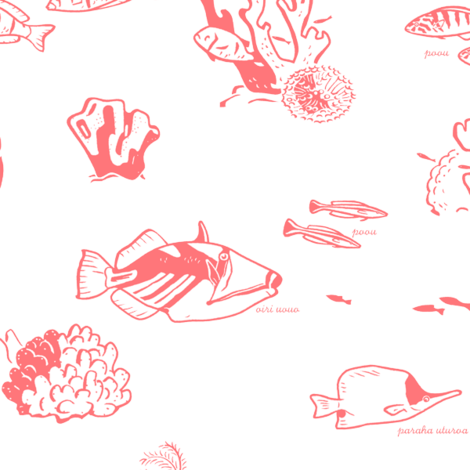 Tropical Fish 1a fabric by muhlenkott on Spoonflower - custom fabric