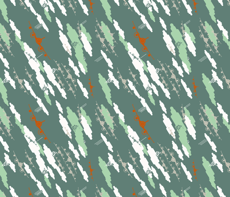 Above the skies_grey fabric by tangerinesamurai on Spoonflower - custom fabric